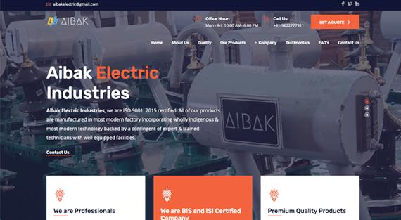 Aibak Electric (Single Page Application)