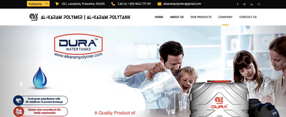 Al Karam Polymer (Single Page Application)
