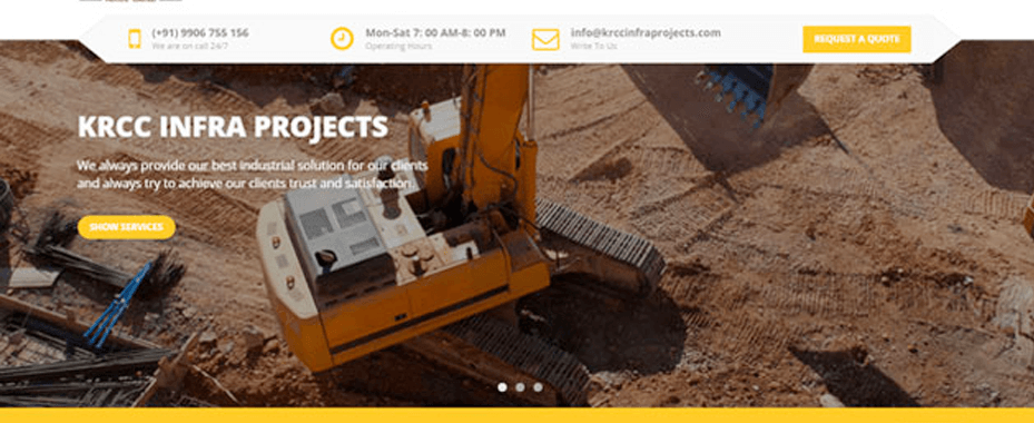 KRCC Infra Projects (Single Page Application)